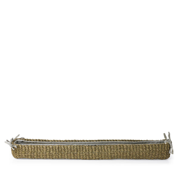 Abaca Woven Baguette Basket in Sage