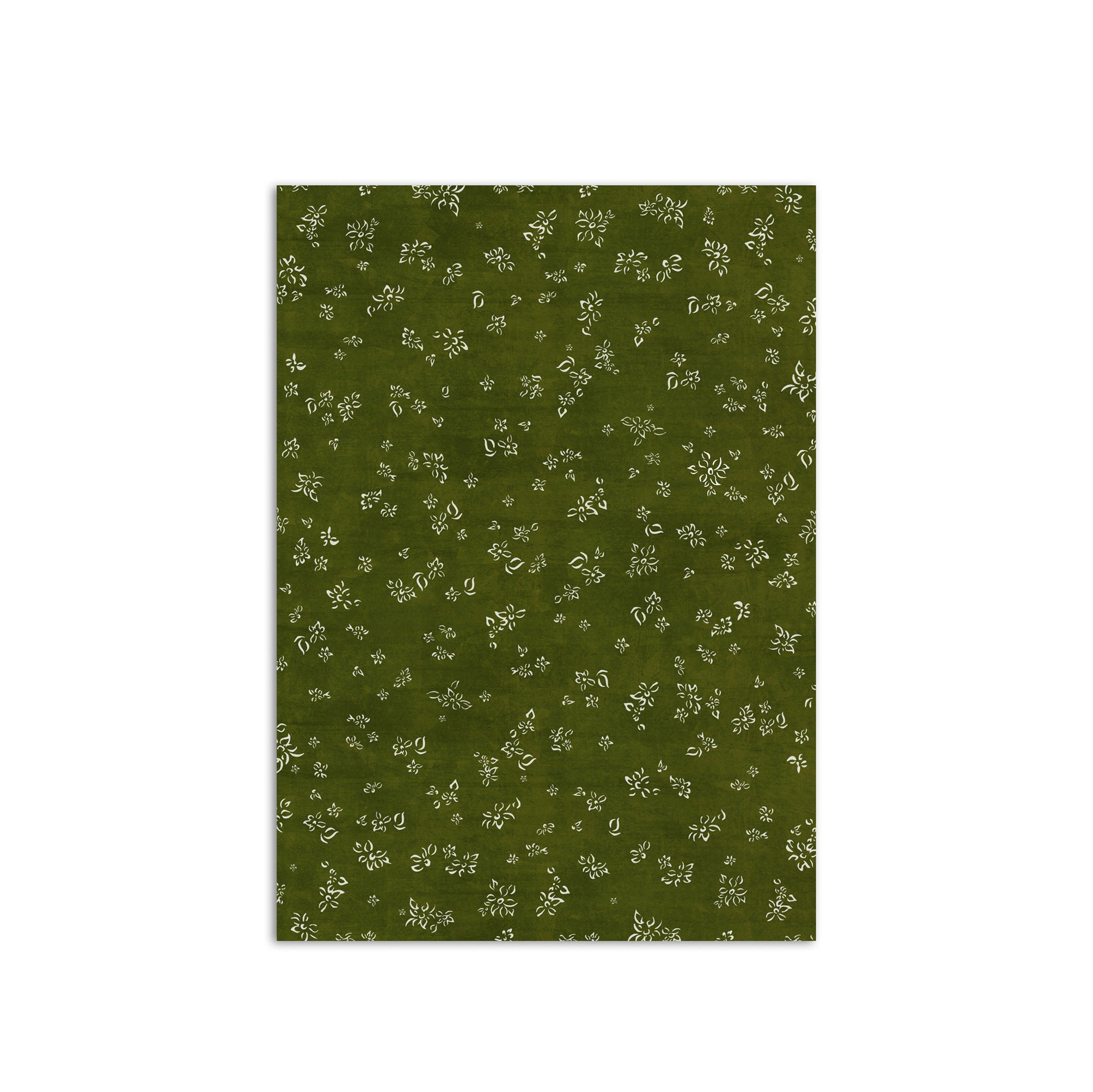 S&B Falling Flower Wrapping Paper in Dark Green, Roll of 4