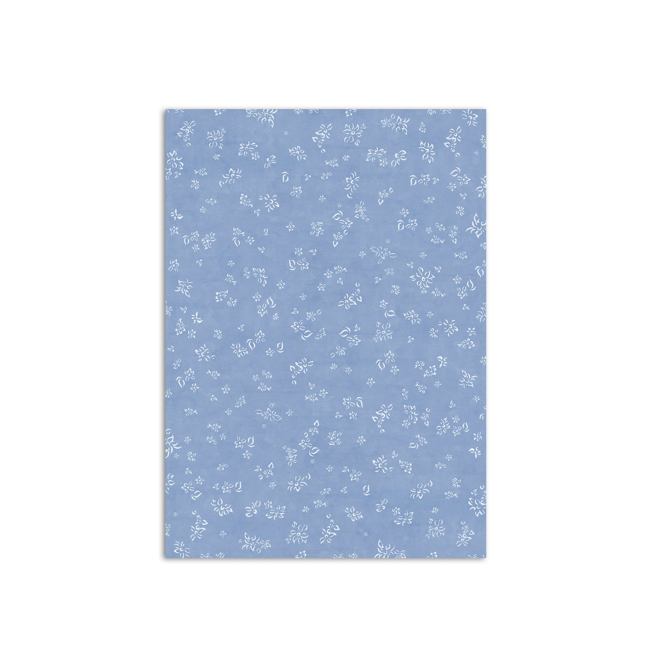 S&B Falling Flower Wrapping Paper in Pale Blue, Roll of 4