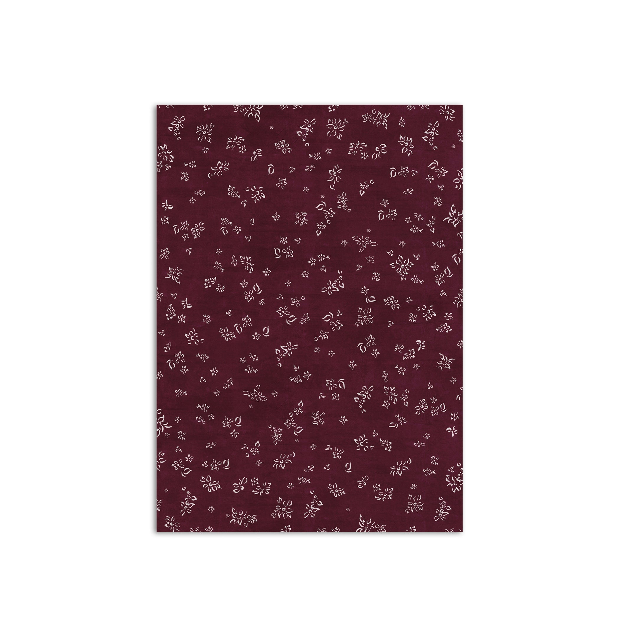 S&B Falling Flower Wrapping Paper in Grape Purple, Roll of 4