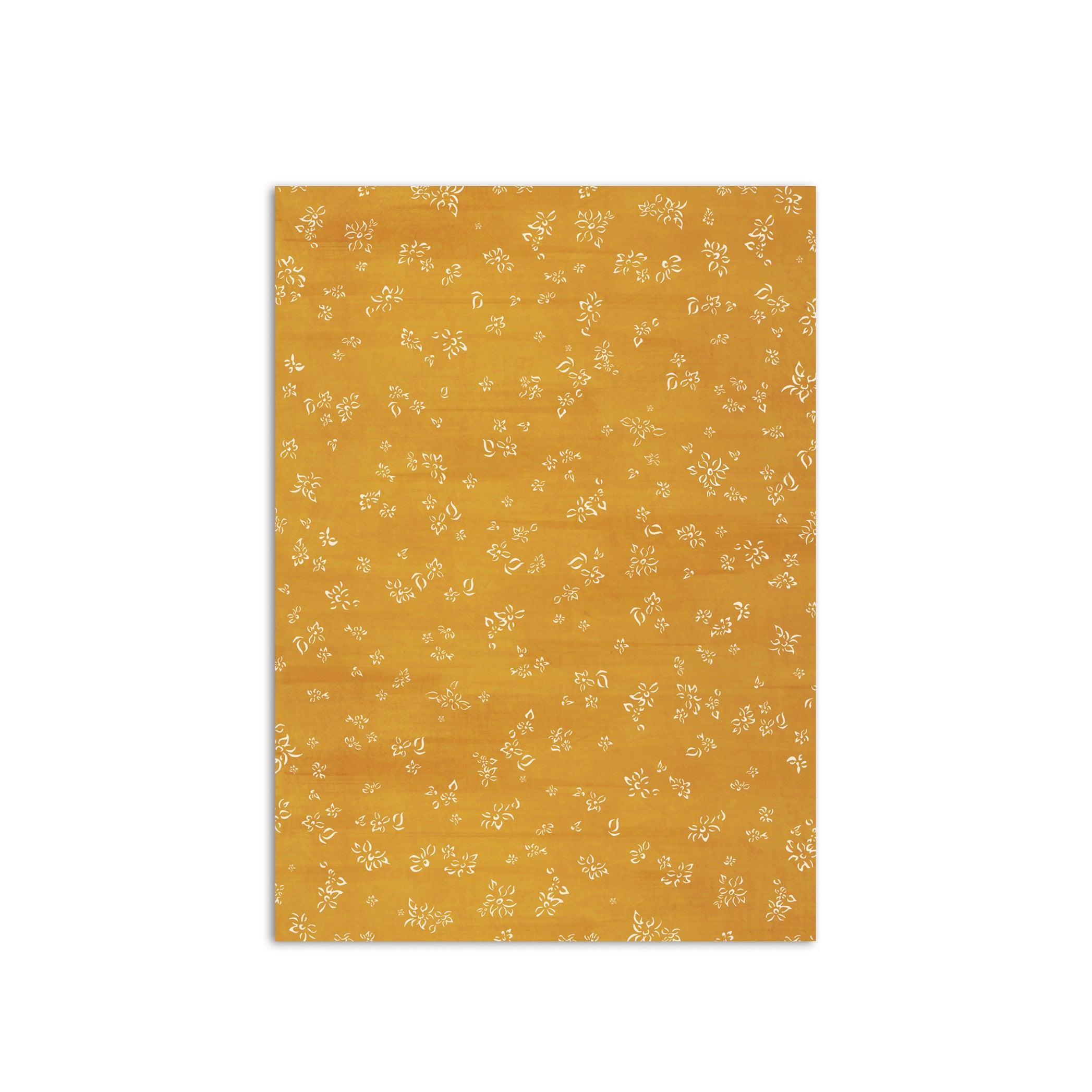 S&B Falling Flower Wrapping Paper in Mustard Yellow, Roll of 4