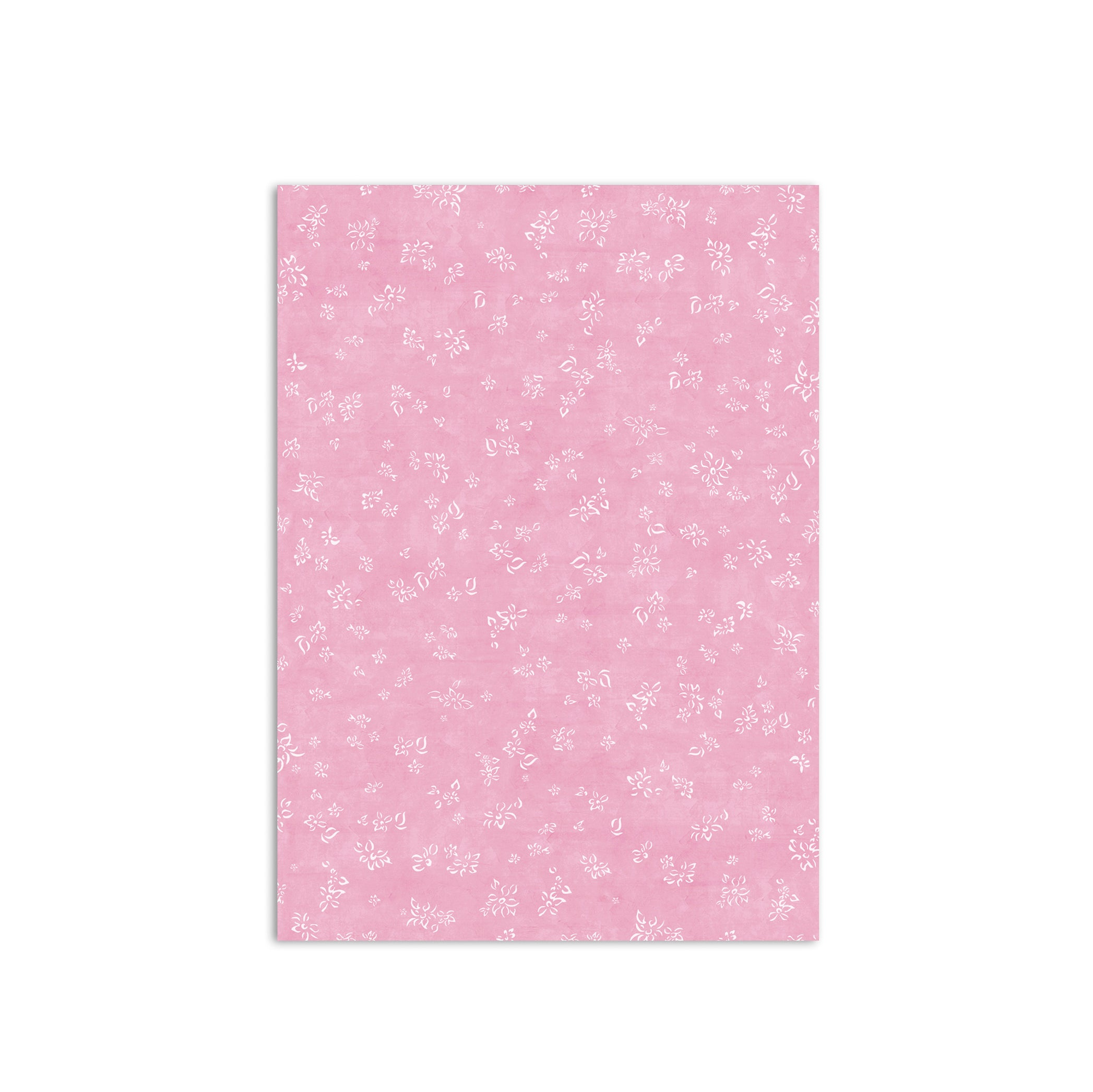 S&B Falling Flower Wrapping Paper in Rose Pink, Roll of 4