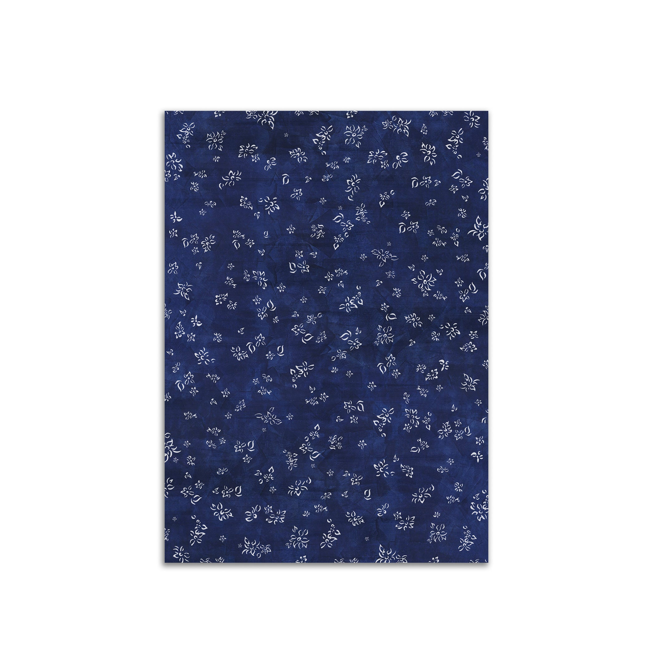 S&B Falling Flower Wrapping Paper in Midnight Blue, Roll of 4