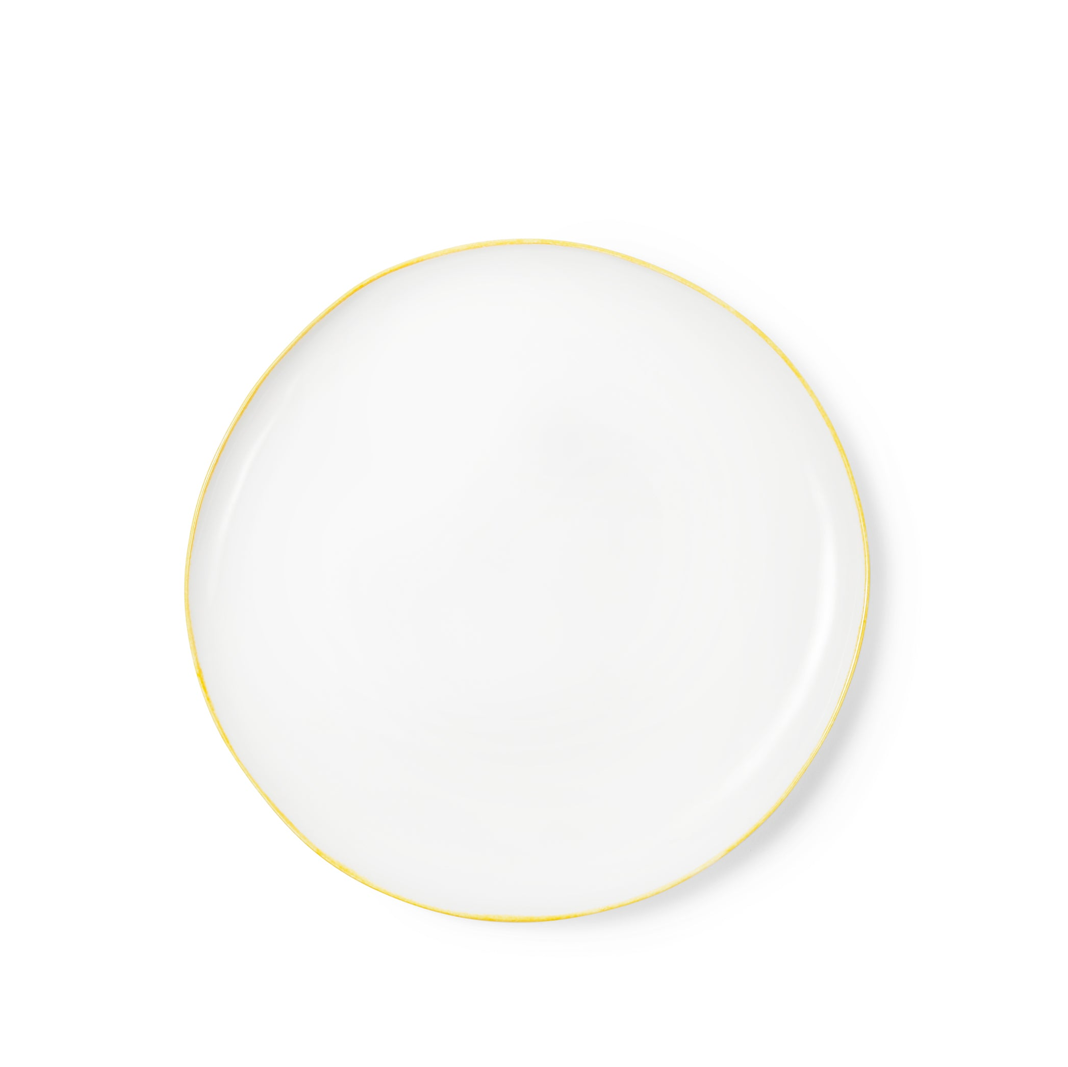 Made to Order - S&B Handmade 31cm Porcelain Dinner Plate with Yellow Rim
