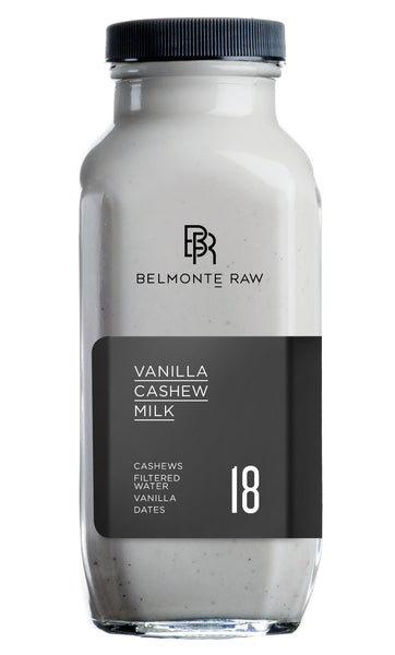 Vanilla Cashew Milk 18 - Belmonte Raw - Organic Raw Food and Juicery