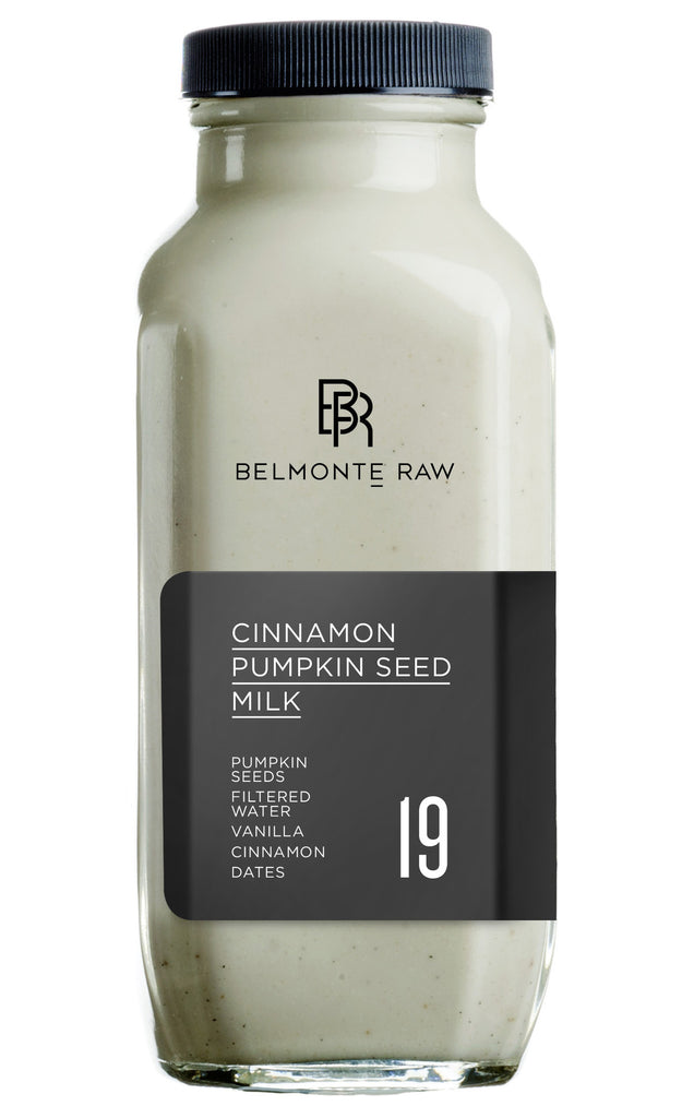 Cinnamon Pumpkin Seed Milk 19 - Belmonte Raw - Organic Raw Food and Juicery