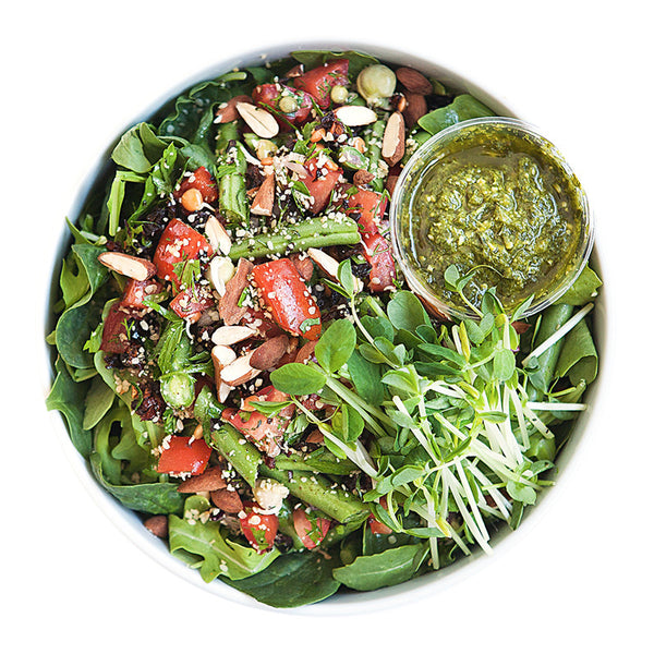 Sicilian Green Bean Salad | 09/01 - 15/01 - Belmonte Raw - Organic Raw Food and Juicery
