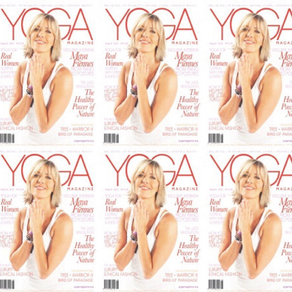 Maya Fiennes on the cover of Yoga Magazine