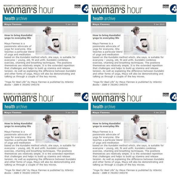 Maya Fiennes on BBC Radio 4 Woman's Hour