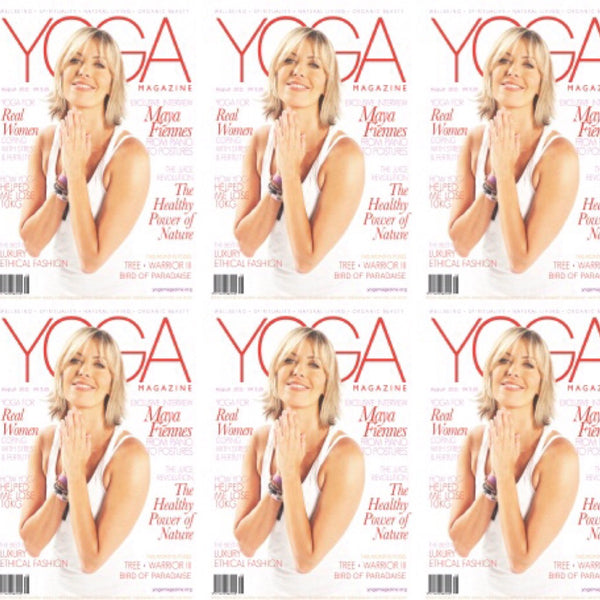 Maya Fiennes Yoga Magazine Cover August 2011