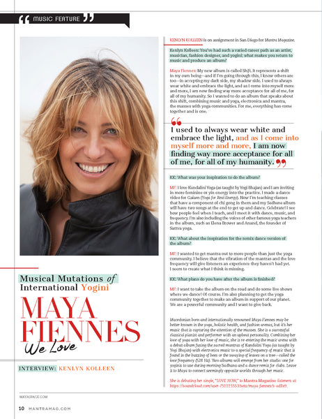 maya fiennes mantra magazine interview