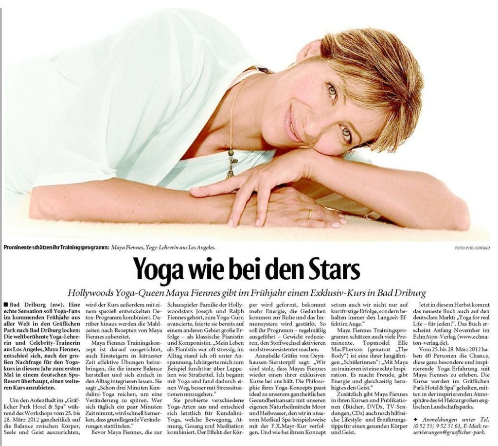 Maya Fiennes in Neue Westfalische Magazine, October 2011
