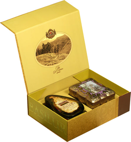 CORPORATE CHRISTMAS GIFT COLLECTION (Gold) - Basilur Island of Tea Special & Jasper Treasure collection