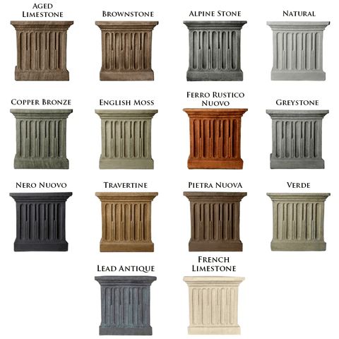 Campania International Finish Samples by Outdoor Art Pros | Fountain Accessories