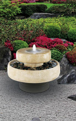 Millstone Tiered Outdoor Fountain