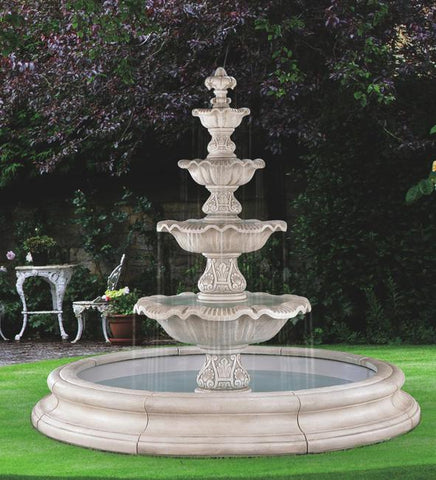 Four Tier Renaissance Fountain
