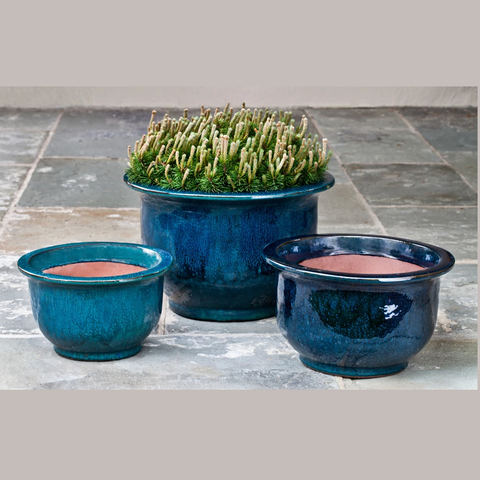 Alegre Planter Set of 3 in Indigo Rain by Outdoor Art Pros