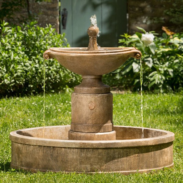 Borghese Water Fountain in Basin