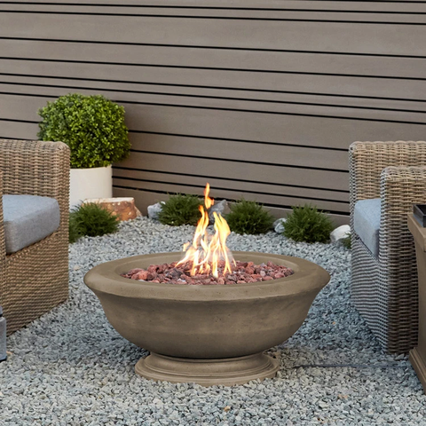 Treviso Round Propane Fire Bowl with NG Conversion Kit