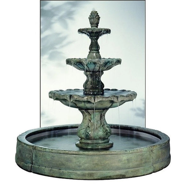 Classical Finial Outdoor Fountain in Valencia Pool