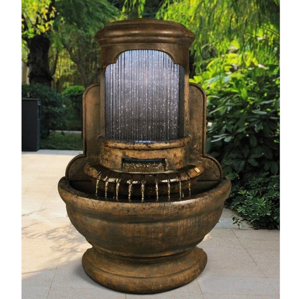 Falling Diamonds Outdoor Wall Water Fountain