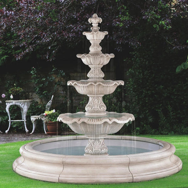 Four Tier Renaissance Fountain In Toscana Pool