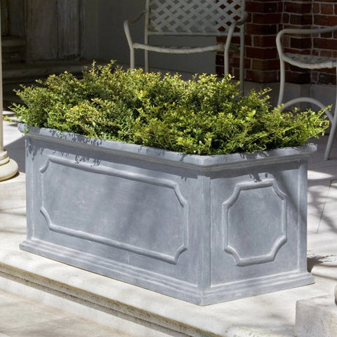 Hampshire Lead Lite Large Window Box Planter - Set of 3 large outdoor planters