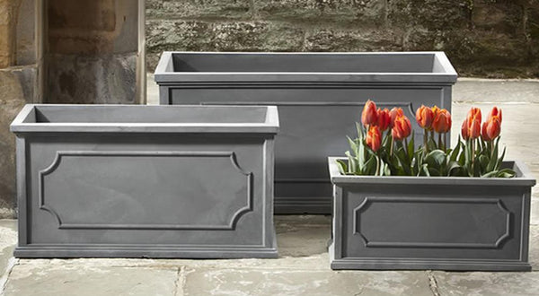 Hampshire Poly Window Box - Set of 3 in Lead
