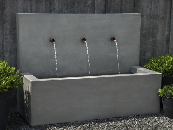 Long Beach Wall Outdoor Fountain