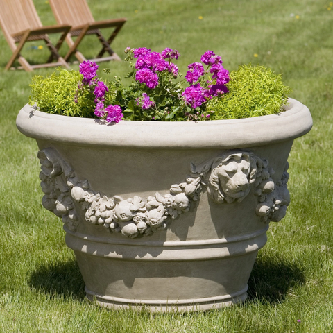 Morris Lion Pot Garden Planter by Outdoor Art Pros