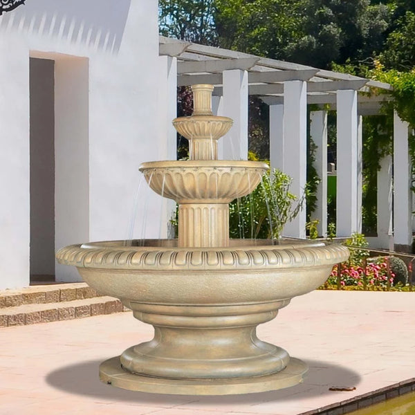 Palazzo Fluted Tiered Outdoor Fountain