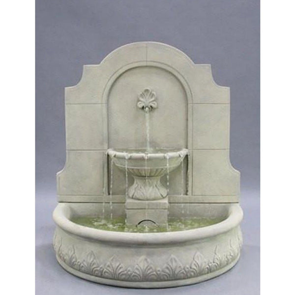 Provincial Cast Stone Wall Outdoor Fountain