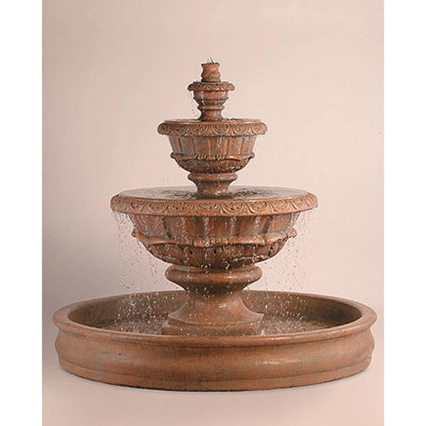 Roma Tiered Outdoor Fountain With 74 Inch Basin