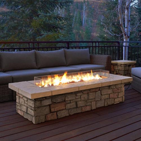 """Sedona 66"""" Rectangle Propane Fire Table with NG Conversion Kit"""