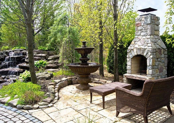Siena Tiered Outdoor Fountain