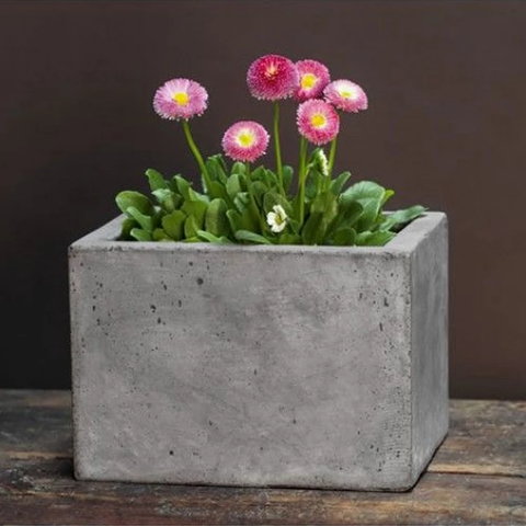 Small Geo Planter by Outdoor Art Pros