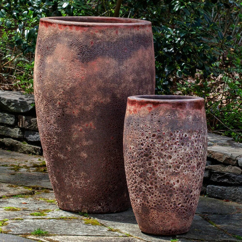 Ta Som Planter Set of 2 large outdoor planters