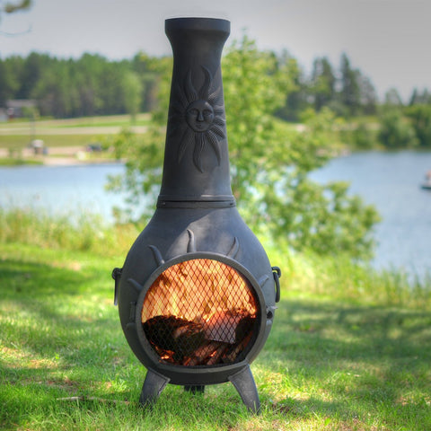 The Blue Rooster Sun Chiminea
