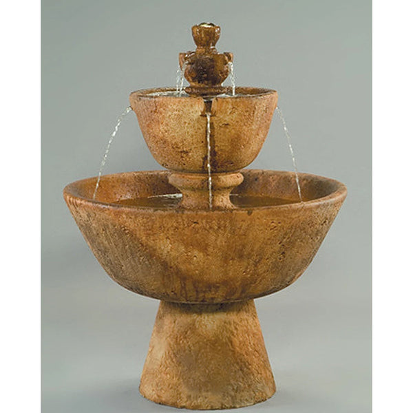 Tuscan Tiered Outdoor Water Fountain
