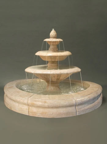 Venetian Fountain with Fiore Pond - Gray