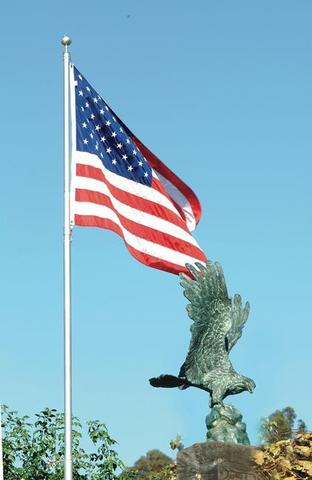 Freedom Eagle Bronze Garden Sculpture Outdoor Art Pros