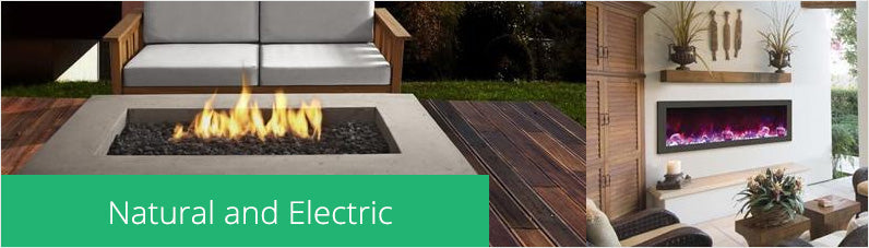 Outdoor Natural Gas, Electric Gas Outdoor Fire Table