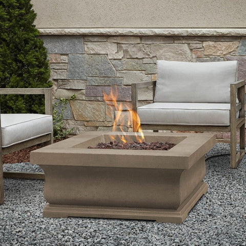 Treviso Square Gas Fire Pit - Outdoor Art Pros