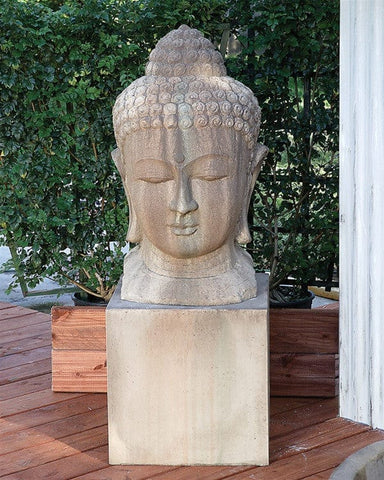Buddha Head Garden Statue - Outdoor Art Pros
