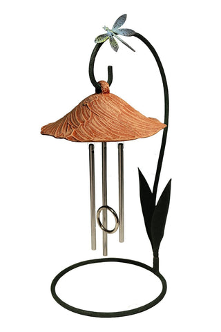 Terra Cotta Bella Blossom Solar Chime Décor - Outdoor Art Pros