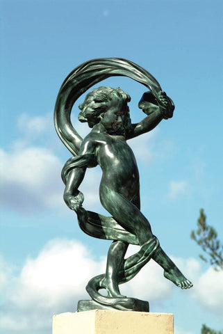 Dancing in the Wind Brass Garden Statue - Brass Baron - Outdoor Art Pros