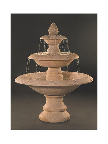 Venetian 3-Tier Cast Stone Outdoor Fountain - Outdoor Art Pros