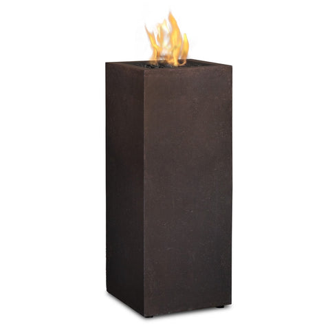 Baltic Propane Fire Column - Kodiak Brown Finish - Outdoor Art Pros