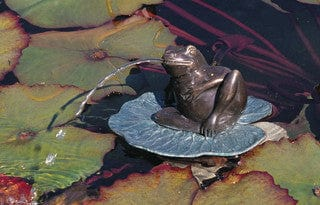 Brass Baron Small Lazy Frog Garden Accent and Pool Statuary - Brass Baron - Outdoor Art Pros