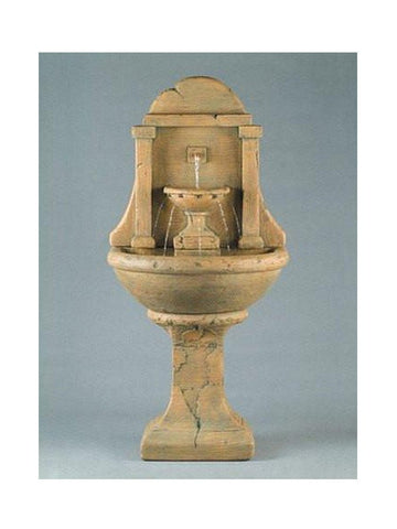 Atlantis Wall Outdoor Fountain - Tall - Outdoor Art Pros